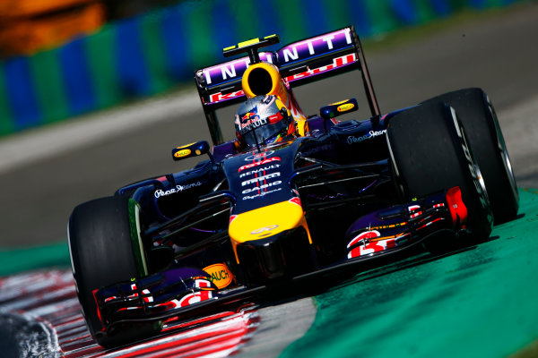Hungaroring, Budapest, Hungary. Friday 25 July 2014. Daniel Ricciardo, Red Bull Racing RB10 Renault. World Copyright: Andy Hone/LAT Photographic. ref: Digital Image _ONZ9157