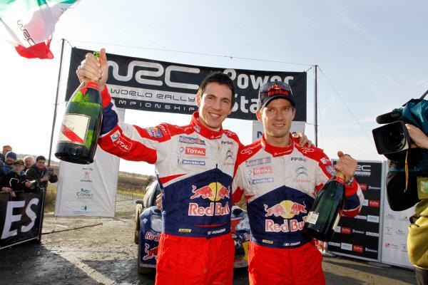 Round 13 Wales Rally GB. 10th-13th November 2011.Sebastien Ogier, Julien Ingrassia, Citroen WRC, Portrait, podium finish.Worldwide Copyright: McKlein/LAT