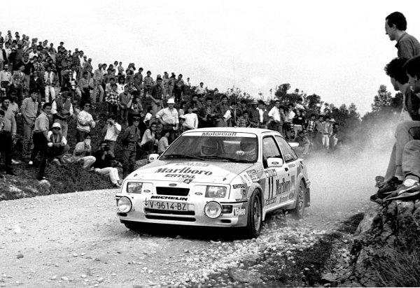 1987 World Rally Championship Portugal. 1987 Carlos Sainz/Antonio Boto (Ford Sierra RS Cosworth), retired. This was Carlos Sainz's first ever World Rally Championship start. World Copyright: LAT Photographic