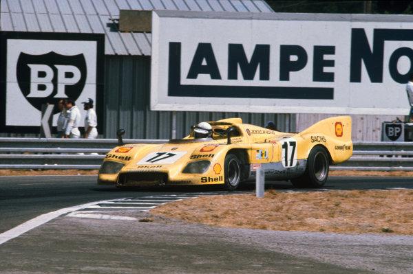 Le Mans, France. 12 - 13 June 1976 Ernst Kraus/Gunther Steckkonig (Porsche 908/03), 7th position, action. World Copyright: LAT PhotographicRef: 76LM38.