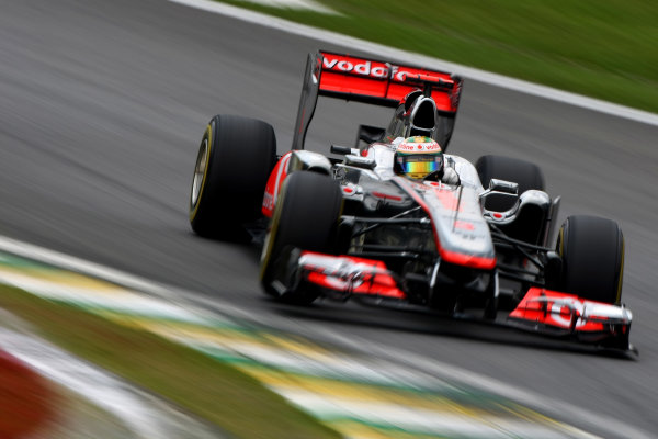Interlagos, Sao Paulo, Brazil26th November 2011Lewis Hamilton, McLaren MP4-26 Mercedes. Action. World Copyright: Andy Hone/LAT Photographicref: Digital Image CSP28890