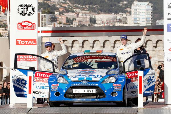 Round 01-Rally Monte Carlo 17-22 January 2012. Craig Breen, Ford S2000, Podium.Worldwide Copyright: McKlein/LAT