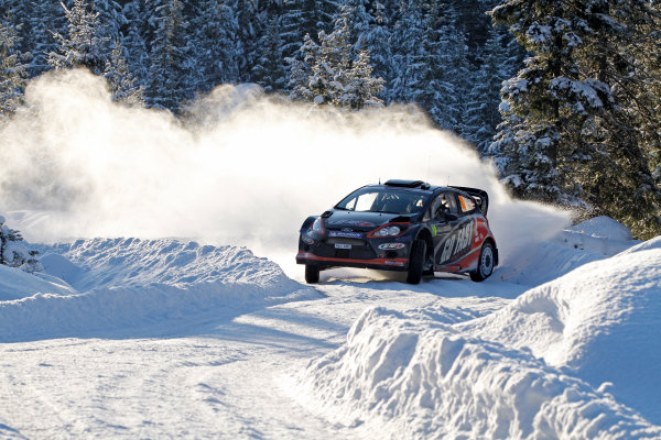 Round 02 - Rally Sweden 09-12 February 2012. Henning Solberg, Ford WRC, Action.  Worldwide Copyright: McKlein/LAT