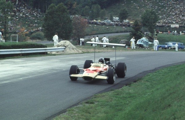 1968 Canadian Grand Prix.Mont-Tremblant, (St. Jovite), Quebec, Canada.20-22 September 1968.Graham Hill (Lotus 49B Ford) 4th position.Ref-68 CAN 12.World Copyright - LAT Photographic