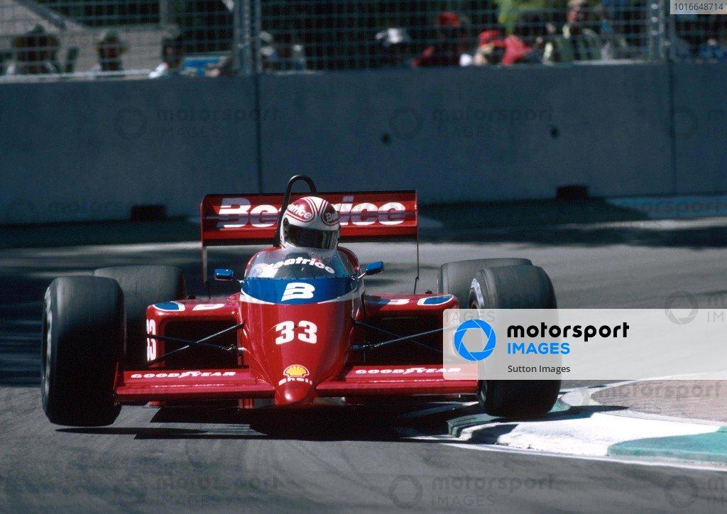 Alan Jones(AUS) Lola THL1, DNF. Australian Grand Prix, Adelaide, 3 November 1985
