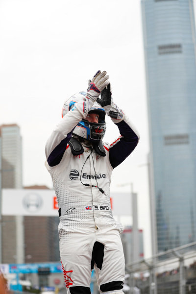 Sam Bird (GBR), Envision Virgin Racing celebrates victory in parc ferme