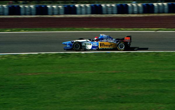 1995 Spanish Grand Prix.Catalunya, Barcelona, Spain.12-14 May 1995.Johnny Herbert (Benetton 195 Renault) 2nd position.World Copyright - LAT Photographic