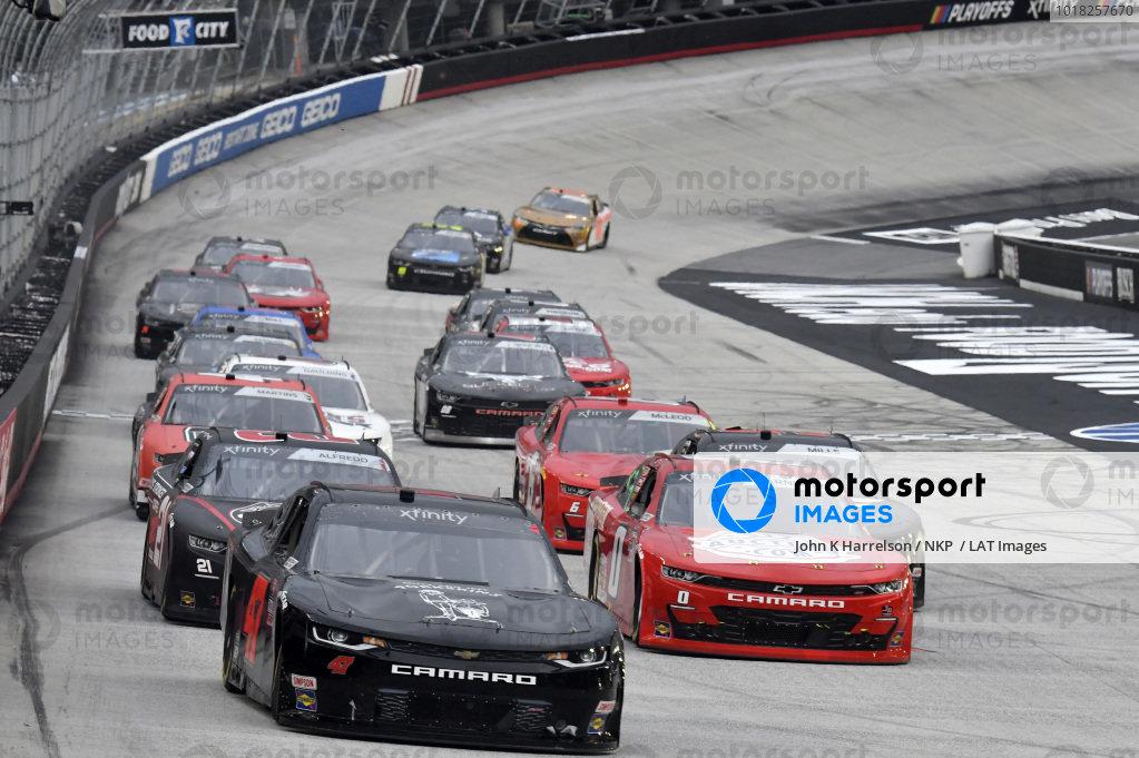 #47: Kyle Weatherman, Mike Harmon Racing, Chevrolet Camaro Honor And Sacrifice, #0: Jeffrey Earnhardt, JD Motorsports, Chevrolet Camaro TeamJDMotorsports.com