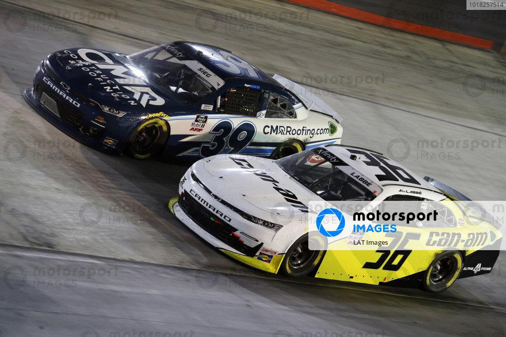 #39: Ryan Sieg, RSS Racing, Chevrolet Camaro CMRRoofing.com and #36: Alex Labbe, DGM Racing, Chevrolet Camaro Can-Am