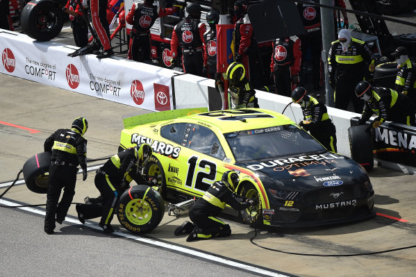 Ryan Blaney, Team Penske Ford Mustang Menards/Duracell, pits Copyright: Chris Graythen/Getty Images.