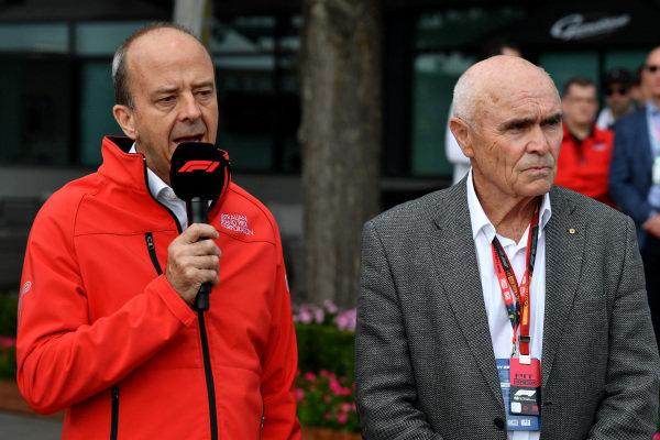 Andrew Westacott, Australian Grand Prix Corporation CEO talks to the press