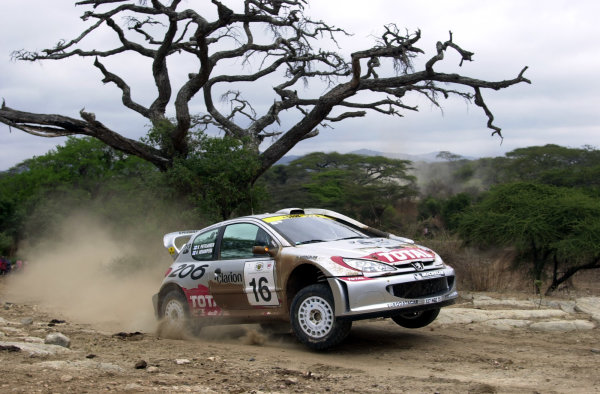 2001 World Rally Championship.Nairobi, Kenya. July 20-22, 2001Harri Rovanpera on his way to second place on the final leg.Photo: Ralph Hardwick/LAT
