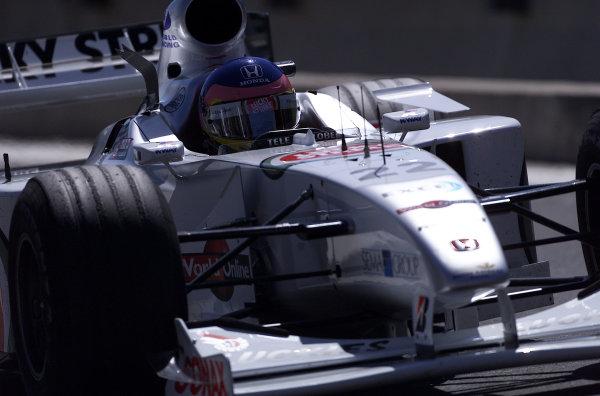 2000 Belgian Grand Prix.Spa-Francorchamps, Belgium. 25-27 August 2000.Jacques Villeneuve (B.A R. 002 Honda) 7th position.World Copyright - LAT Photographicref: 5 7mb DIGITAL