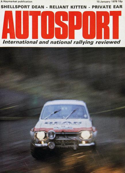 Cover of Autosport magazine, 15th January 1976