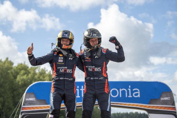 Ott Tänak (EST) and Martin Järveoja (EST), Hyundai World Rally Team, Hyundai i20 Coupe WRC 2020