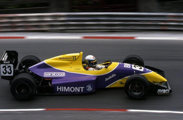 Alex Zanardi (ITA) Il Barone Rampante, Reynard 91D Mugen. International F3000 Championship, RD2, Pau, France, 20 May 1991.