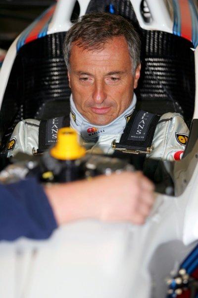 Riccardo Patrese (ITA). Grand Prix Masters Testing, Day One, Silverstone, England, 26 October 2005. DIGITAL IMAGE