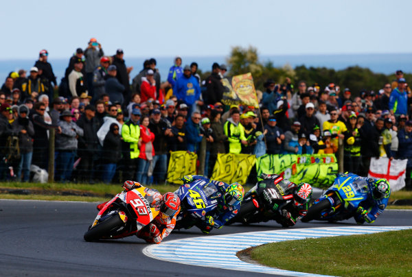 2017 MotoGP Championship - Round 16 Phillip Island, Australia. Sunday 22 October 2017 Marc Marquez, Repsol Honda Team World Copyright: Gold and Goose / LAT Images ref: Digital Image 24524