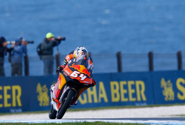 2017 Moto3 Championship - Round 16 Phillip Island, Australia. Friday 20 October 2017 Bo Bendsneyder, Red Bull KTM Ajo World Copyright: Gold and Goose / LAT Images ref: Digital Image 23273