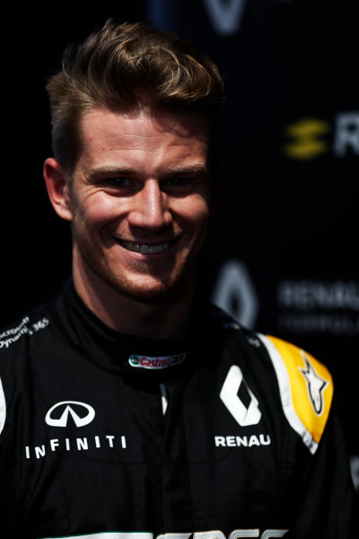 Renault  RS17  Formula 1 Launch. The Lindley Hall, London, UK. Tuesday 21 February 2017. Nico Hulkenberg, Renault Sport F1.  World Copyright: Glenn Dunbar/LAT Images Ref: _X4I0011
