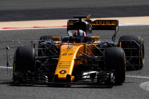 Bahrain International Circuit, Sakhir, Bahrain.  Tuesday 18 April 2017. Nico Hulkenberg, Renault R.S.17. World Copyright: Glenn Dunbar/LAT Images ref: Digital Image _X4I1997