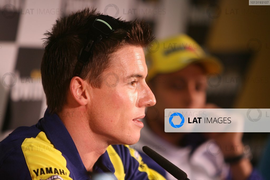 2008 Moto GP ChampionshipEstoril, Portugal. 12th - 13th April 2008James Toseland Tech 3 Yamaha faces allegations of dangerous riding in Jerez during the Estoril pre event press conference.World Copyright: Martin Heath/LAT Photographicref: Digital Image Only