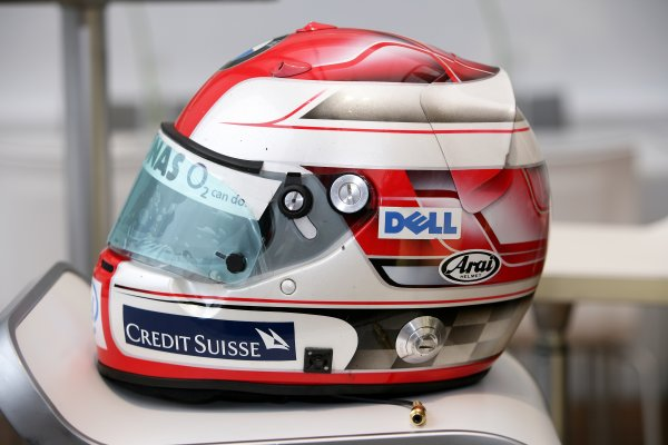 2006 Hungarian Grand Prix - Thursday PreviewHungaroring, Budapest, Hungary. 3rd - 6th August.The Helmet of Robert Kubica, BMW Sauber F1 06.World Copyright: Charles Coates/LAT Photographicref: Digital Image ZK5Y2713