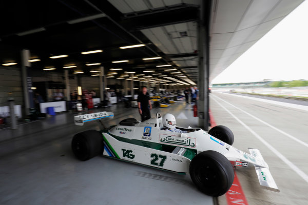 Williams 40 Event Silverstone, Northants, UK Friday 2 June 2017. A Williams FW07 is demonstrated. World Copyright: Zak Mauger/LAT Images ref: Digital Image _56I9591