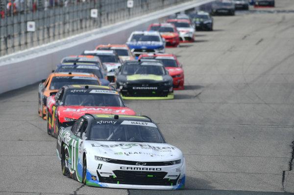 #11: Justin Haley, Kaulig Racing, Chevrolet Camaro LeafFilter Gutter Protection, #7: Justin Allgaier, JR Motorsports, Chevrolet Camaro BRANDT