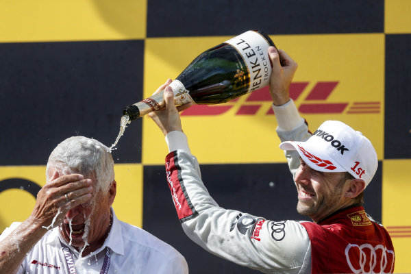 Podium: Race winner René Rast, Audi Sport Team Rosberg.