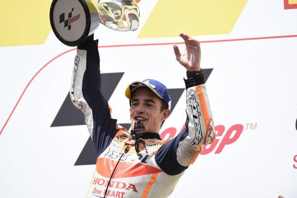 Podium: race winner Marc Marquez, Repsol Honda Team.