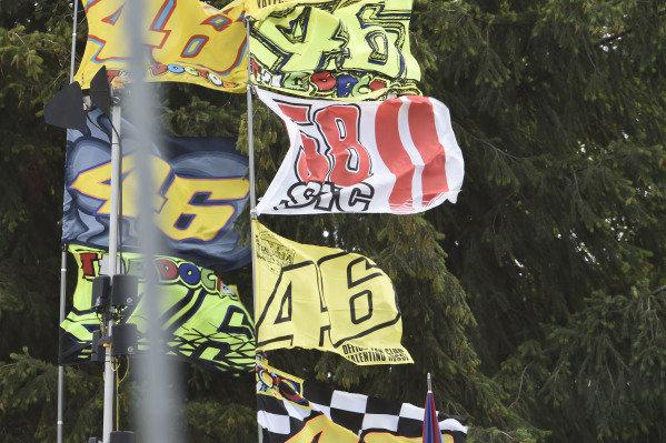 Fan flags.