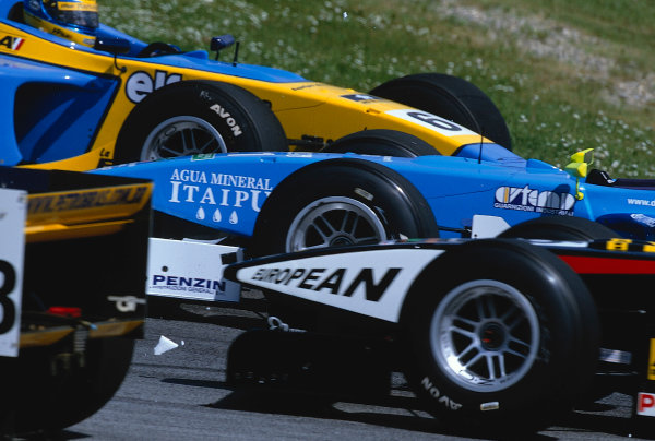 2002 F3000 ChampionshipA1-Ring, Austria. 11th May 2002.Sebastien Bourdais (Super Nova Racing), spins out of the race on lap 1.World Copyright: Clive Rose/LAT Photographicref: 35mm Image A16