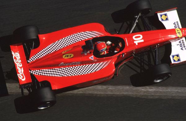 2001 F3000 ChampionshipMonte Carlo, Monaco. 26th May 2001Justin Wilson, Coca-Cola Nordic racing - 2nd position.World Copyright: Lorenzo Bellanca / LAT Photographicref: 35mm Image A19