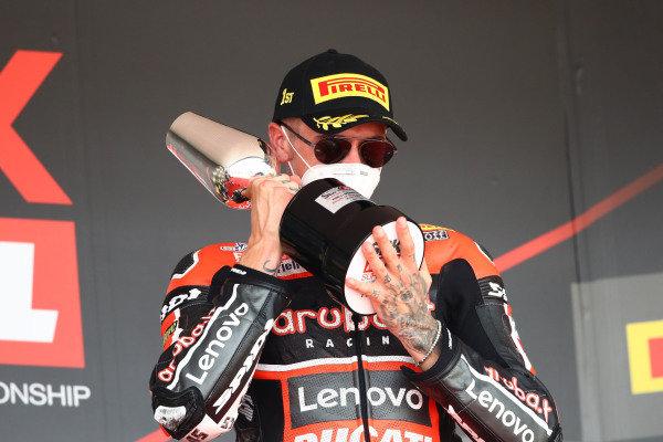 Race winner Scott Redding, Aruba.it Racing Ducati.