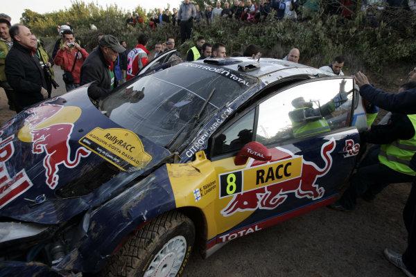 Round 12Rally Spain 21-24 October 2010Kimi Raikkonen, Citroen WRC, CrashWorldwide Copyright: McKlein/LAT