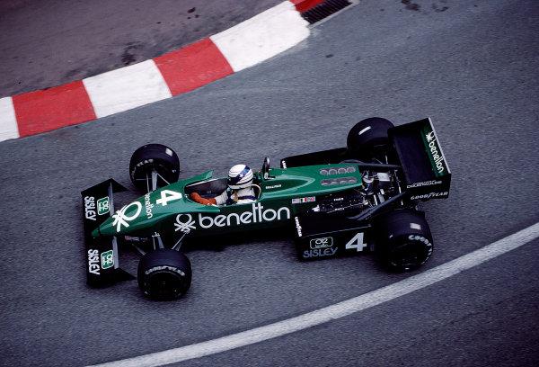 1983 Monaco Grand Prix.Monte Carlo, Monaco.12-15 May 1983.Danny Sullivan (Tyrrell 011 Ford) 5th position.Ref-83 MON 51.World Copyright - LAT Photographic