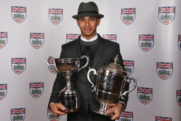 2014 BRDC Annual Awards The Grand Connaught Rooms, London, UK Monday 8 December 2014. F1 World Champion Lewis Hamilton. World Copyright: Ebrey/LAT Photographic. ref: Digital Image Hamilton--01