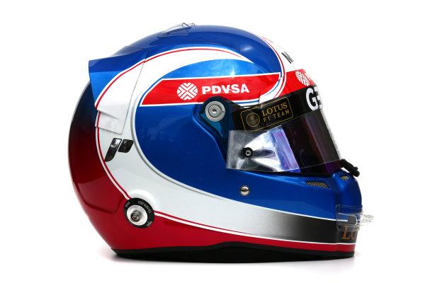 Albert Park, Melbourne, Australia. Helmet of Jolyon Palmer, Test and Reserve Driver, Lotus F1.  Thursday 12 March 2015. World Copyright: LAT Photographic. ref: Digital Image 2015_Helmet_034