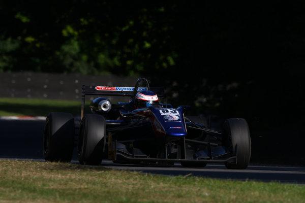 2013 British Formula 3 International Series, Brands Hatch, Kent. 9th - 11th August 2013. Chris Vlok (NZL) Team West Tec Dallara Toyota. World Copyright: Ebrey / LAT Photographic.