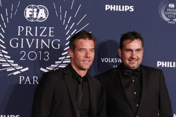 2013 FIA Gala Dinner and Awards. Paris, France. Friday 6th December 2013. Sebastien Loeb and Daniel Elena. World Copyright & Mandatory Credit: FIA. ref: Digital Image 11242113426_ab3850f4db_o