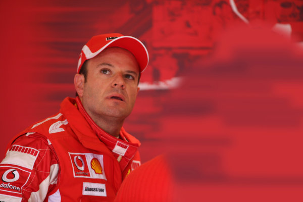 2005 British Grand Prix - Friday Practice,Silverstone, England. 8th July 2005 Rubens Barrichello, Ferrari F2005. Portrait World Copyright: Steve Etherington/LAT Photographic ref: 48mb Hi Res Digital Image