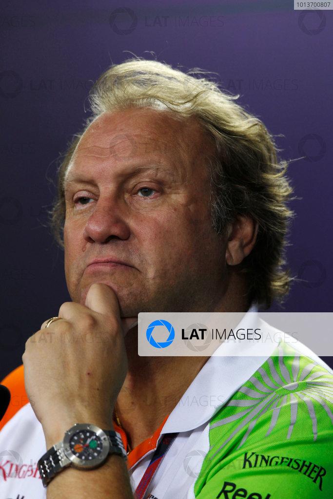 Interlagos, Sao Paulo, Brazil. 25th November 2011. Bob Fearnley, Team Director, Force India. Portrait. Press Conferences.   World Copyright:Charles Coates/LAT Photographic ref: Digital Image _X5J0430