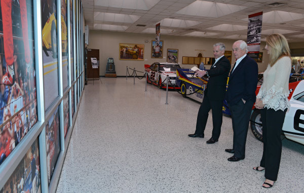 22 March,  2016, Indianapolis, Indiana USA Penske Indy 500 Sponsor Press Conference Roger Penske view exhibits in the museum ?2016 Walt Kuhn LAT Photo USA