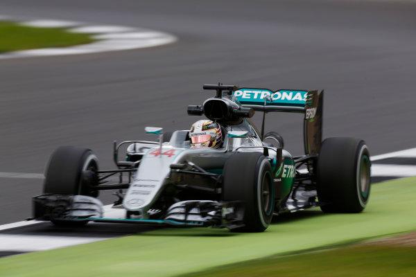 Silverstone, Northamptonshire, UK Friday 08 July 2016. Lewis Hamilton, Mercedes F1 W07 Hybrid.  World Copyright: Sam Bloxham/LAT Photographic ref: Digital Image _SBB0019