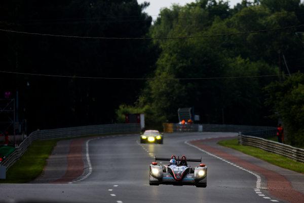 2016 Le Mans 24 Hours. Circuit de la Sarthe, Le Mans, France. Sunday 19 June 2016. SRT41 By Oak Racing / Morgan LMP2 - Nissan - Frederic Sausset (FRA), Christophe Tinseau (FRA), Jean-Bernard Bouvet (FRA).  World Copyright: Zak Mauger/LAT Photographic ref: Digital Image _79P8452