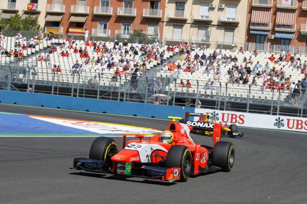 Valencia Street Circuit, Valencia, Spain.  24th June 2012. Sunday Race. Luiz Razia (BRA, Arden International). Action. Photo: Andrew Ferraro/GP2 Media Service. Ref: Digital Image _Q0C9867.jpg