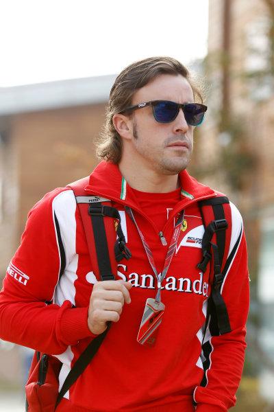 Korea International Circuit, Yeongam-Gun,South Korea.15th October 2011.Fernando Alonso, Ferrari 150Â¡ Italia. World Copyright:Charles Coates/LAT Photographicref: Digital Image _X5J4225