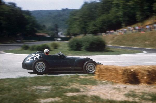 Rouen-Les-Essarts, France. 5-7 July 1957. Herbert MacKay-Fraser, BRM P25. Ref: 57FRA12. World Copyright - LAT Photographic
