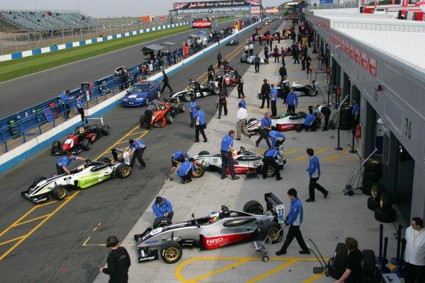 2007 British Formula Three Championship,Donington Park 21st-22nd April 2007,F3 PitlaneWorld copyright: Ebrey/LAT Photographic.